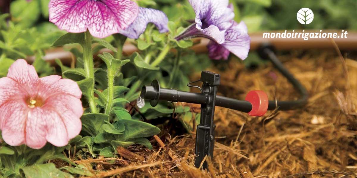 Irrigazione a goccia dell'orto
