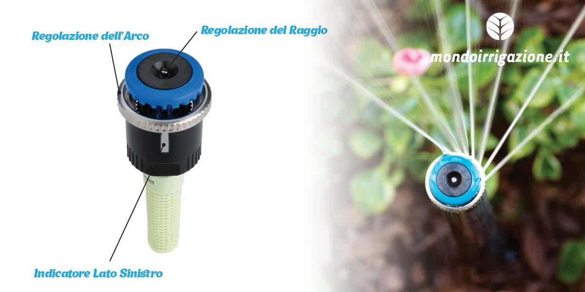 Regolazione testine irrigatori Hunter MP Rotator - Raggio e arco