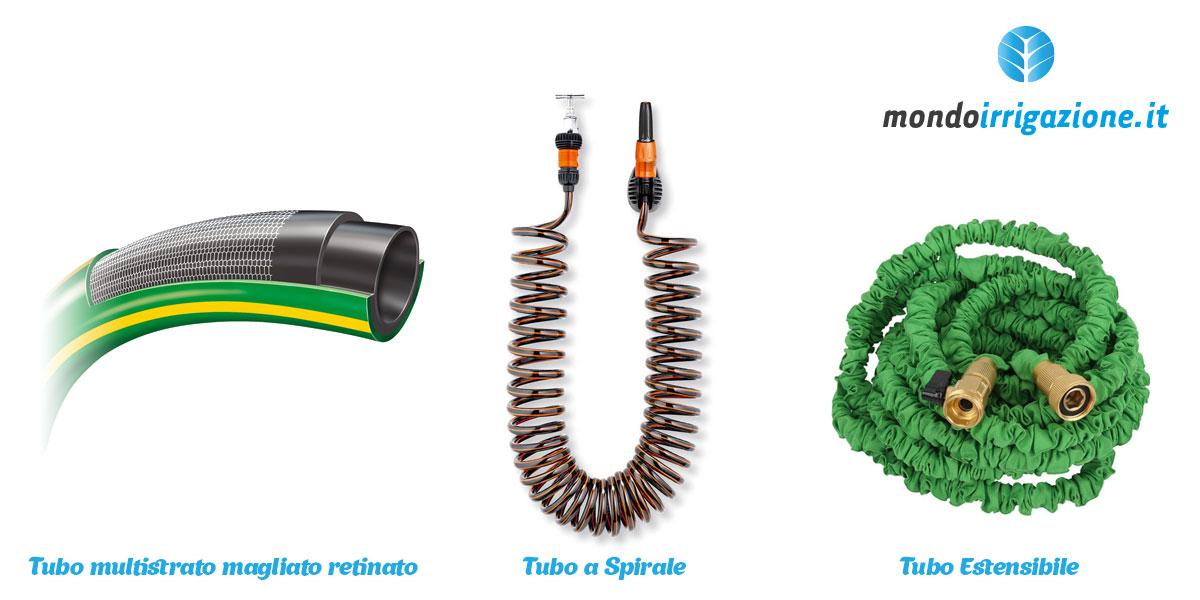 Tubi per irrigazione da giardino: Spirale, estensibile, multistrato, magliato, retinato