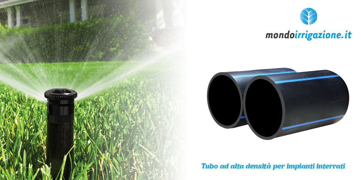 Tubo per irrigazione ad alta densità per impianti di irrigazione interrati per prato