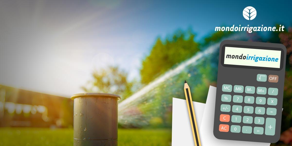 tabelle per impianti di irrigazione portata conversioni