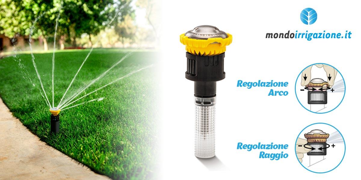 Regolazione irrigatori statici Rain Bird 1800 e Uni Spray con testine Rotanti R-VAN