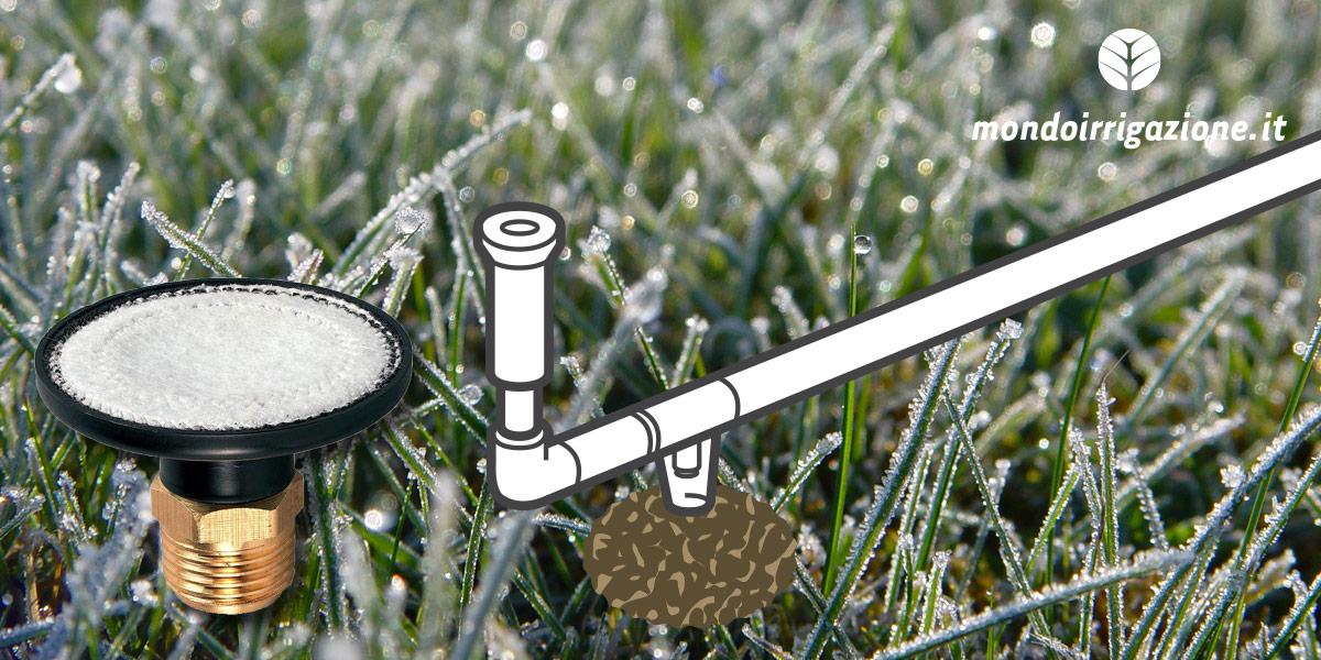 Drenaggio valvola di svuotamento per impianto irrigazione in inverno contro il gelo