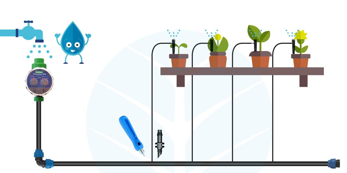Beautiful irrigazione automatica terrazzo gallery idee for Kit irrigazione automatica