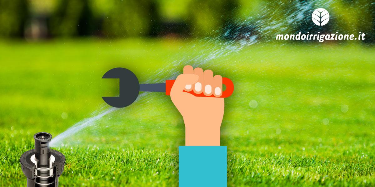 Come pulire gli irrigatori e avviare l'impianto di irrigazione in primavera